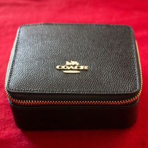 NWT Coach Jewelry Accessory Box in Black #F66502